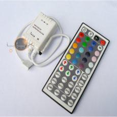 Controlador LED RGB 6 programas / 20 cores + comando
