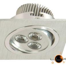 DownLight LED Quadrado Lynx 3W