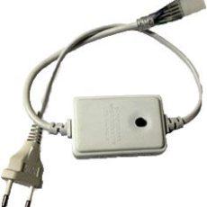 Ficha com Controlador LED RGB + Ligador p/ 50mts Fita 220v