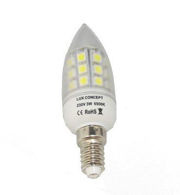 Lâmpada LED E14 Vela Transparente 3W