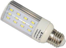 Lâmpada LED PLC E27 7W Branco Quente