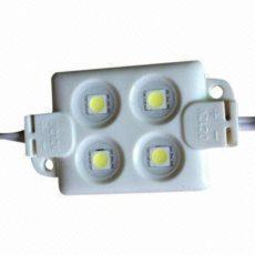 Módulo 4 LED SMD 5050 1W Branco Frio