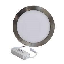 Mini Painel LED Omega Aço Escovado 6W 9W 12W 20W