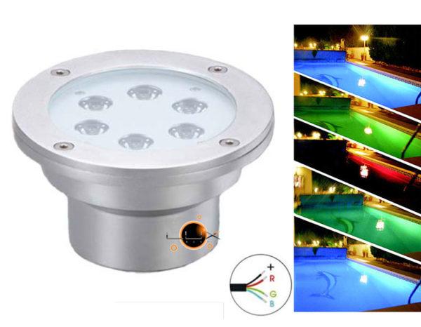 Projector LED Hydra 18W RGB IP68 (Piscinas)