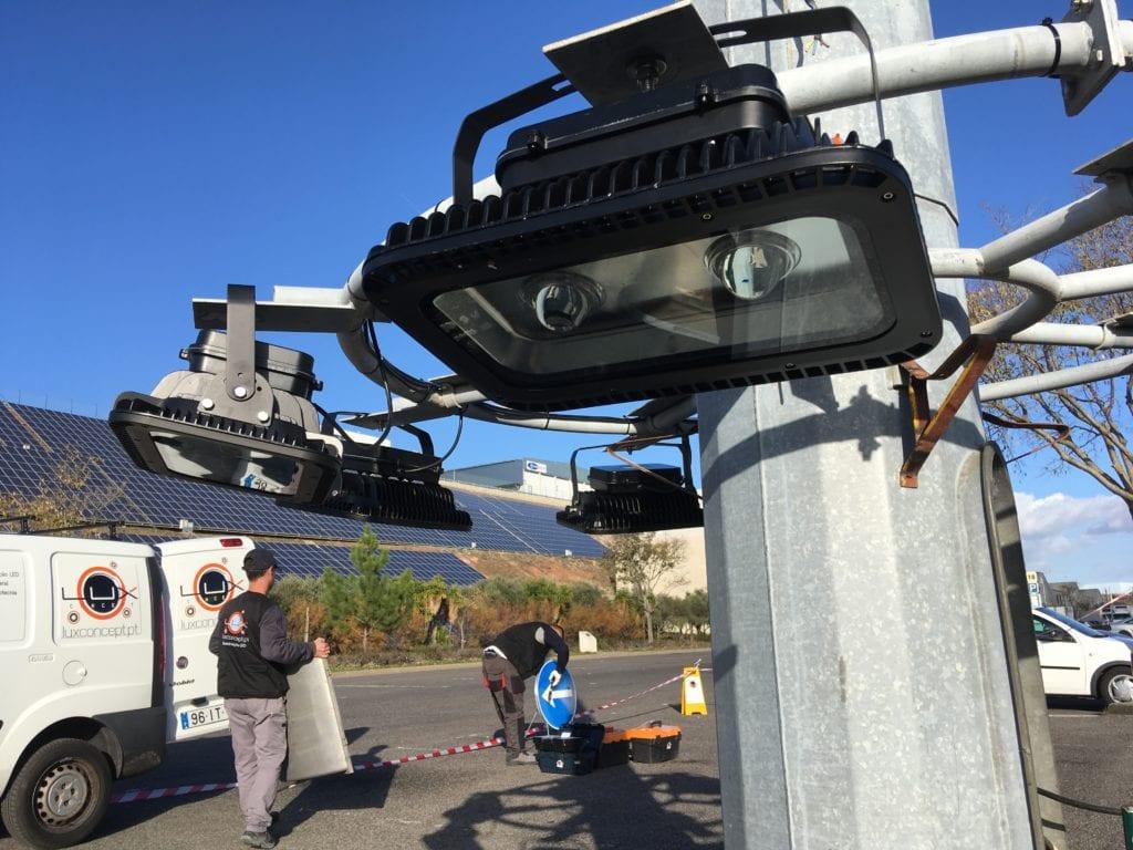 MARL Projetores Torres 30m Parques Iluminação Pública